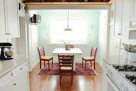 light aqua paint color kitchen traditional with baseboards