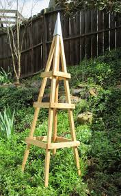 garden tower outdoor decor obelisk climbing plants tuteur