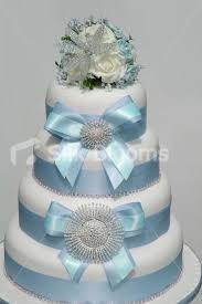 w cake topper shop stunning ivory and baby blue wedding cake topper w