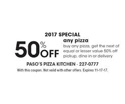 California Pizza Kitchen Coupon Code by Localflavor Com Paso U0027s Pizza Kitchen Coupons