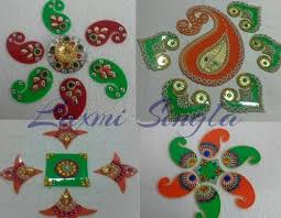 rangoli decoration rangoli decoration for diwali at rs 450 set s rani bagh