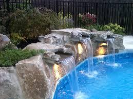 pools with waterfalls exciting inground pool waterfalls pinkax com www