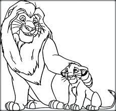lion king coloring pages print kovu kiara lion
