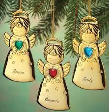 gold plated christmas ornaments personalized angel christmas ornament angel ornament walter