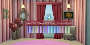 Wallpaper And Curtain Sets Mod The Sims 3 Patterned Wallpaper Sets