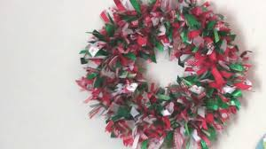 ribbon wreath scrap ribbon wreath