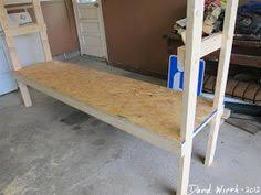 Building Wood Shelf Garage by Wood Shelf Garage Organize Heavy Duty Strong 2x4 Shelf