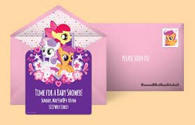 Mlp Birthday Card Free My Little Pony Invitations My Little Pony Online Invitations