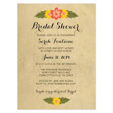 wedding program wording exles rustic floral bridal shower invitation crafty pie press awesome