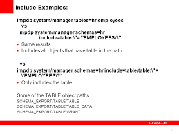 hr schema tables data get the best out of oracle data pump functionality ppt video