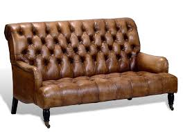 Vintage Tufted Sofa by Artsome English Vintage Style Antique Brown Tufted Leather Sofa