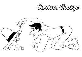 curious george coloring pages free to print coloringstar