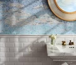 Clouds Sea Glass Backsplash New Ravenna - Sea glass backsplash