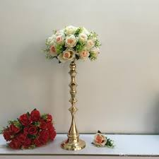 Cheap Candle Vases 53 Cm Tall Gold Candle Holder Candle Stand Wedding Table