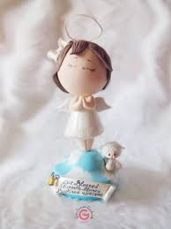 Decoration For First Communion Angel Cake Topper Holy First Communion Decoration Praying