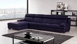 ae l707 dp dark purple sofa set leather sectional 3 piece slick
