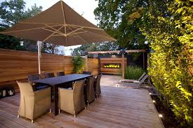 cantilevered deck toronto cantilevered umbrella deck modern with garden lighting