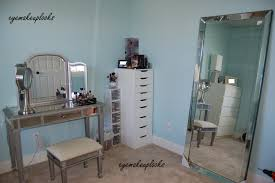 White Vanities For Makeup Furniture Hayworth Vanity With Drawers Before The White Wall For