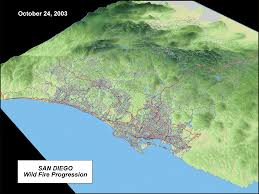 Maps San Diego by Welcome To The San Diego Wildfires Education Project