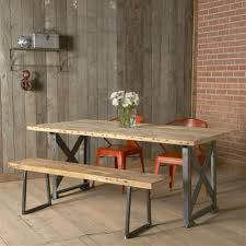 salvaged industrial dining table dotandbo com it u0027s 30 inches