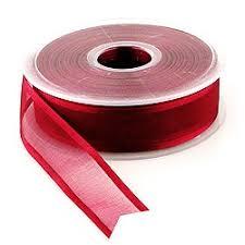organza ribbon 25 yards x 1 w satin edge organza ribbon hansonellis