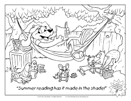 coloring sheet summer reading danlaib com