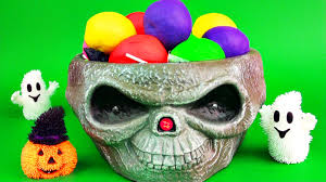 halloween candy bowl shop halloween candy ice cream play doh surprise eggs minions thomas