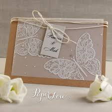 eko handmade butterfly high quality parchment day invitations