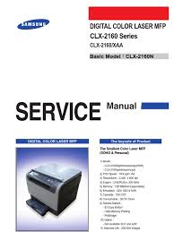 samsung clx 2160 service manual electrostatic discharge ac