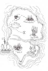 island coloring page treasure map coloring pages getcoloringpages com