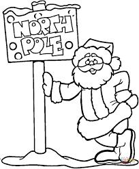 north pole santa coloring free printable coloring pages