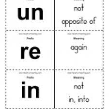 prefix flash cards word list have fun teaching