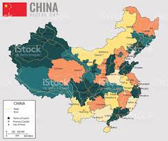 Beijing China Map by China Map With Provinces All Territories Are Selectable Vector
