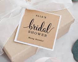 bridal shower favor tags bridal shower tags etsy