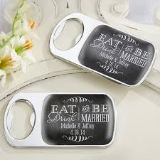 personalized bottle opener favor personalized epoxy dome bottle opener with eat drink be married