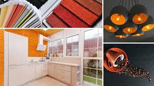 colour scheme orange in kitchen idealist