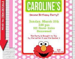elmo birthday invitation sesame street invitation elmo