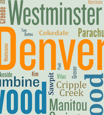 Map Of Colorado Towns by Colorado Typography Map