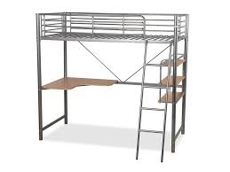 Humza Amani Upton High SleeperStudy Bunk Bed Frame In Silver - Study bunk bed
