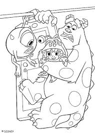 monsters inc coloring pages boo mike sulley and boo coloring pages hellokids com