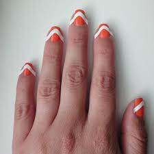 neon chevron french mani tutorial beauty best friend uk beauty