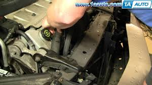 how to install repair replace radiator engine cooling fan cadillac