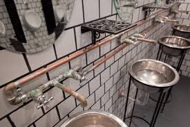 bar bathroom ideas brown steunk bar gives industrial style a dashing look