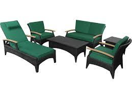 Bellagio Patio Furniture Anderson Teak Bellagio Wicker Deep Seating Set Sr 016ds