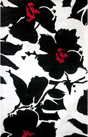 black and white area rugs design decorate with black and white