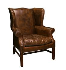 impressive distressed leather wing back chair wingback chairs