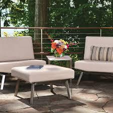 Outdoor Stainless Steel Furniture Baker Novel Outdoor Stainless Steel Single Seat Or Side Table