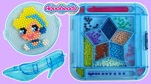 aquabeads cinderella playset sparkle jewel beads u0026 cinderella u0027s