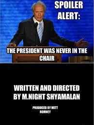 M Night Shyamalan Meme - eastwood s speech directed by m night shyamalan check out more