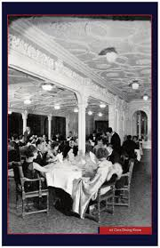 Titanic 1st Class Dining Room The National Touring Titanic And White Star Line Exhibition